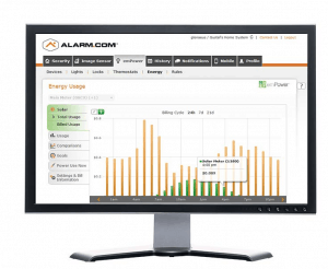 alarm.com energy usage screen